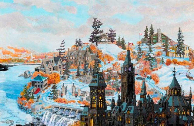 """Rockliffe in Winter,"" a commissioned work"