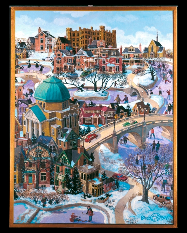 """Winter on the Rideau Canal,"" the painting that was selected by Ravensburger to create a 1,000-piece puzzle"