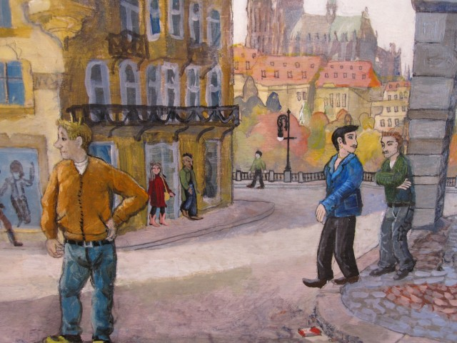 "Detail from ""The Men of Prague"""