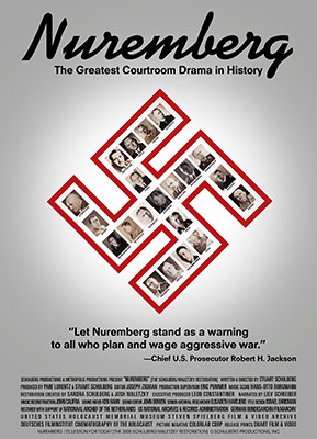 "Official film poster for the restored ""Nuremberg: Its Lesson for Today"""