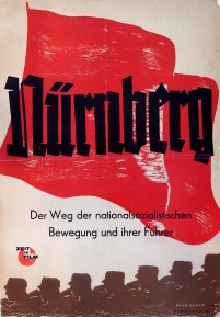 "Original poster for ""Nuremberg's"" 1948 German release. The Berlin run was delayed until May 1949 because of the Soviet Blockade (Schulberg Family Archive)"