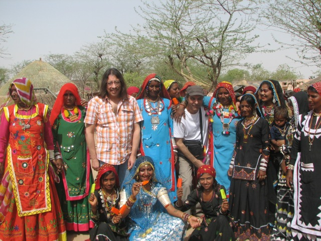 "Stojka on tour in India in 2010 for the film ""Harri Stojka - Back to the Roots"" (photo by Valerie Stojka)"