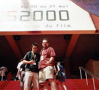 "Demarbre at the 2000 Cannes Film Festival, where ""Harry Knuckles and the Treasure of the Aztec Mummy"" screened as part of that year's Best of Slamdance tour"