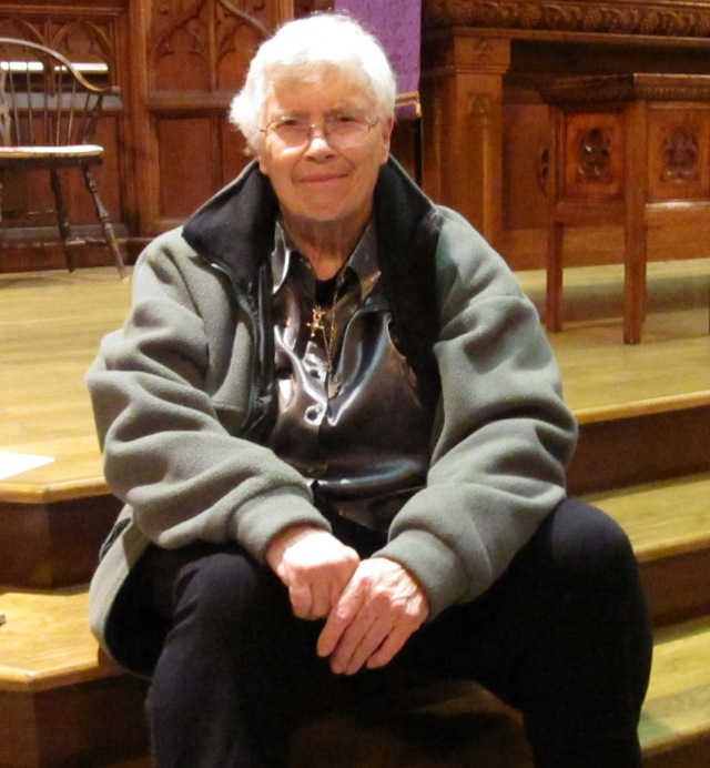 Pauline Oliveros after her concert at Ottawa's Glebe St. James United Church