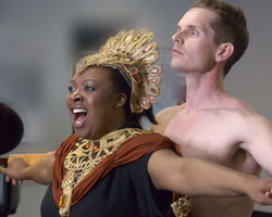 Still from a 30-minute operatic version of Isis and Osiris, by Mack and librettist Sharon Singer, performed in Toronto on March 31, 2010
