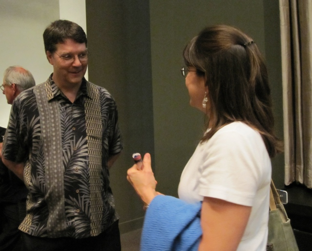 Mack chatting with an audience member after his Music and Beyond concert on July 11, 2011