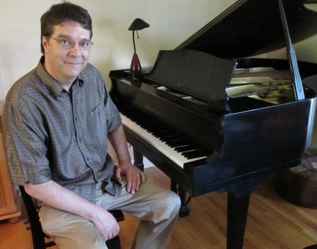 Colin Mack at his house on July 22, 2011 following his Artsmania interview