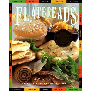 """Flatbreads & Flavors,"" the first of six travel cookbooks co-authored by Naomi Duguid and Jeffrey Alford"