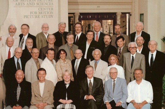 The Board of Governors of the Academy of Motion Picture Arts and Sciences (1990s). Bernstein, a long-time member, is in the second row from the back, fourth from the right.