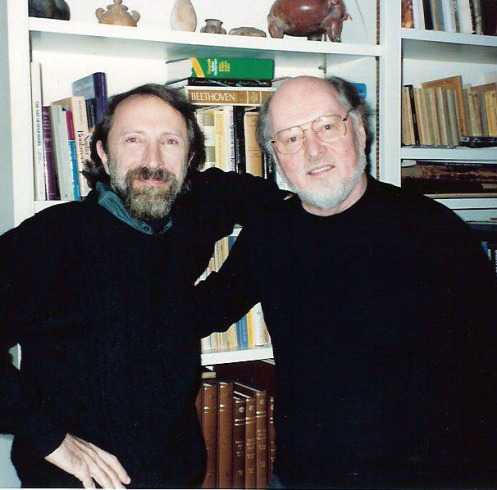 "Bernstein with composer John Williams, who wrote the soundtracks for the films ""Schindler's List,"" ""Jaws"" and ""Star Wars,"" among others. Bernstein interviewed Williams in 1992."
