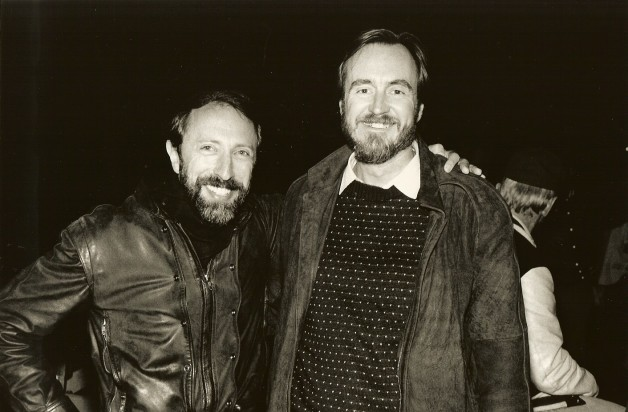"Bernstein with director, writer and producer Wes Craven on the set of ""Deadly Friend"" (1986). Craven also directed the original ""A Nightmare on Elm Street,"" the first ""The Hills Have Eyes"" and the four ""Scream"" films, and many other horror films"