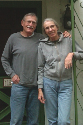 Meinke with his wife, illustrator Jeanne Clark (photo by Diane Cohen)