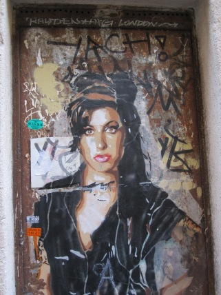 Amy Winehouse in street art by BTOY on a wall near her Barcelona studio (photo by Anita Malhotra, February 24, 2012)