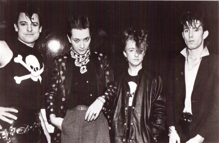 Jack de Keyzer (far right) with the Toronto rockabilly band the Bopcats in 1980