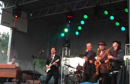 De Keyzer and his band performing at the Calabogie Peaks Blues and Ribfest in 2012