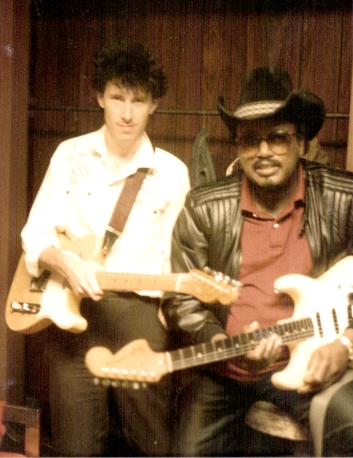 De Kezyer in 1984 with blues guitarist and singer Otis Rush (b. 1935), whose sound influenced Eric Clapton