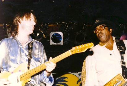De Keyzer with R&B singer, guitarist and songwriter Bo Diddley (1928-2008), who was inducted into the Rock and Roll Hall of Fame in 1987