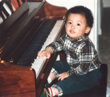 Conrad Tao at the age of 20 months, a few months after he started playing the piano