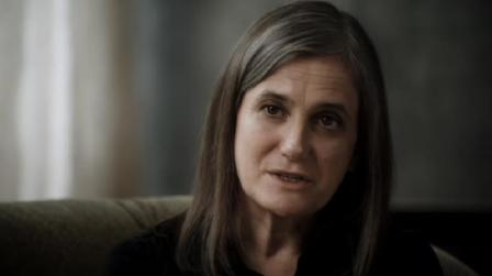 "Broadcast journalist and ""Democracy Now!"" host Amy Goodman being interviewed in Shadows of Liberty (photo courtesy of Jean-Philippe Tremblay)"