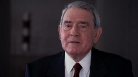 Iconic broadcast journalist Dan Rather being interviewed in Shadows of Liberty (photo courtesy of Jean-Philippe Tremblay)