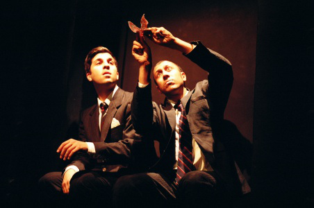 "Ravi Jain and Paolozza in ""Spent,"" a Dora-award-winning 2009 co-production with Theatre Smith-Gilmour and Why Not Theatre (photo by Elisa Gilmour)"