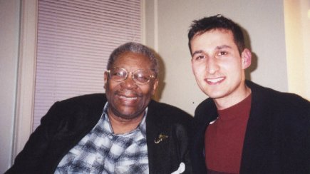 Bhaneja with B.B. King at Massey Hall in Toronto