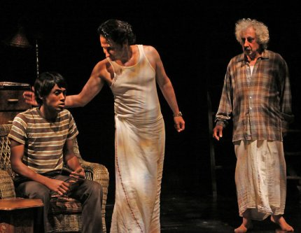 "Araya Mengesha, Raoul Bhaneja and Sam Moses (L to R) in the 2009 Stratford Festival production of Sunil Kuruvilla's ""Rice Boy"""