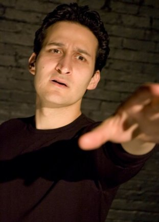 "Raoul Bhaneja in ""Hamlet (solo)"" directed by Robert Ross Parker (photo by Andrew Kenneth Martin)"