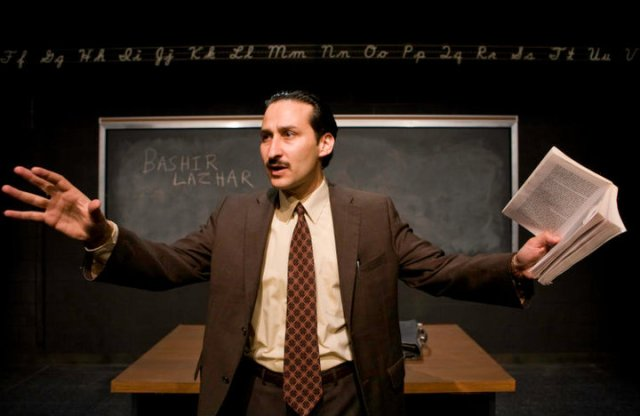 """Bhaneja in the 2008 Tarragon Theatre production of the play """"Bashir Lazhar,"""" written by Evelyne de la Chenelière"""