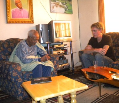 Bruce Conkle with Ale Felege Selam , the founder of Ethiopia's first art school in Addis Ababa