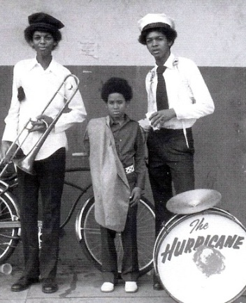 The Hurricane Jazz Band, L to R: Lucien Barbarin, Shannon Powell and Charles Barbarin (photo courtesy of Lucien Barbarin)
