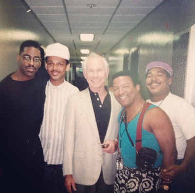 Lucien Barbarin (second from the left) with Johnny Carson (photo courtesy of Lucien Barbarin)