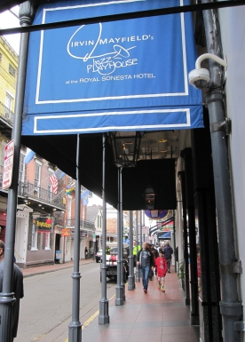 The Bourbon Street entrance to Irvin Mayfield's Jazz Playhouse (photo by Anita Malhotra)