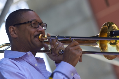Trombonist Delfeayo Marsalis (photo by Derek Bridge, Flickr Creative Commons, April 12, 2013)