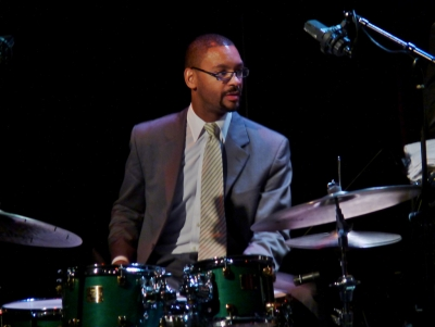 Jason Marsalis on Sept. 7, 2012 playing with the Marcus Roberts Trio and Béla Fleck at Dimitriou's Jazz Alley in Seattle (photo by sea turtle, Flickr Creative Commons)