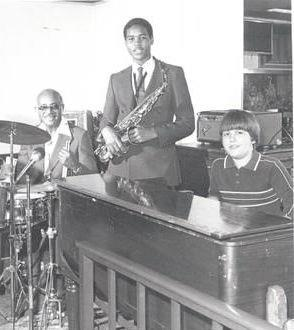 Joey DeFrancesco in 1982 at the age of 11 with Johnny Williams and Louis Taylor at Jewel's jazz club in Philadelphia (photo courtesy of Joey DeFrancesco)