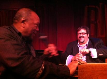 DeFrancesco with Quincy Jones (photo courtesy of Joey DeFrancesco)