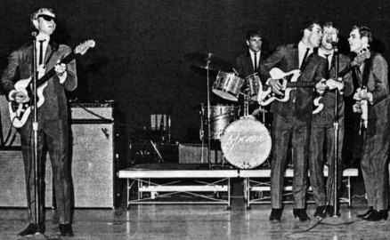 The Astronauts, a surf band from Boulder, Colorado, performing in 1966 (public domain photo from Wikimedia Commons)