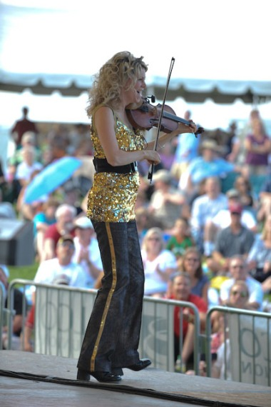 Natalie MacMaster performing in 2010 at the Colorado Irish Festival in Denver (photo by Wayne Smith, courtesy of nataliemacmaster.com)