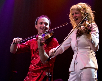 Natalie MacMaster performing with her husband, Celtic fiddler Donnell Leahy (photo courtesy of nataliemacmaster.com)