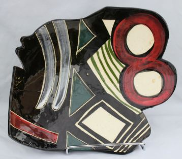 """The Number,"" a ceramics piece by Maxwell Taylor (photo courtesy of Maxwell and Therese Taylor)"