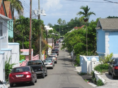 West Street in Nassau, close to where Maxwell Taylor grew up (photo by Anita Malhotra)