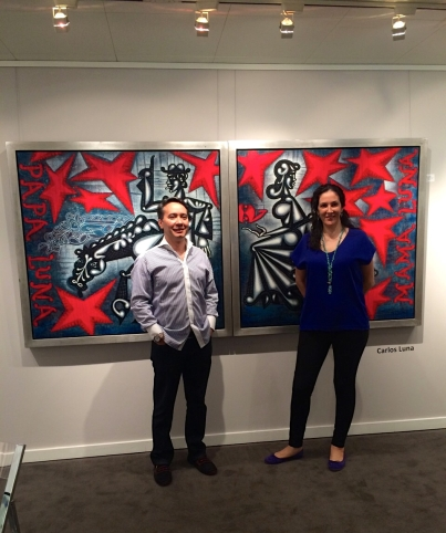 Carlos and Claudia Luna at the Art Basel Miami Beach in 2014 (photo courtesy of Carlos and Claudia Luna)