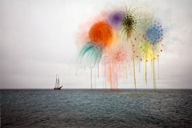 """Fireworks,"" 2010, by Canadian photographer Sarah Anne Johnson (b. 1976) ( © Sarah Anne Johnson / Courtesy of Stephen Bulger Gallery, Toronto and Julie Saul Gallery, New York)"