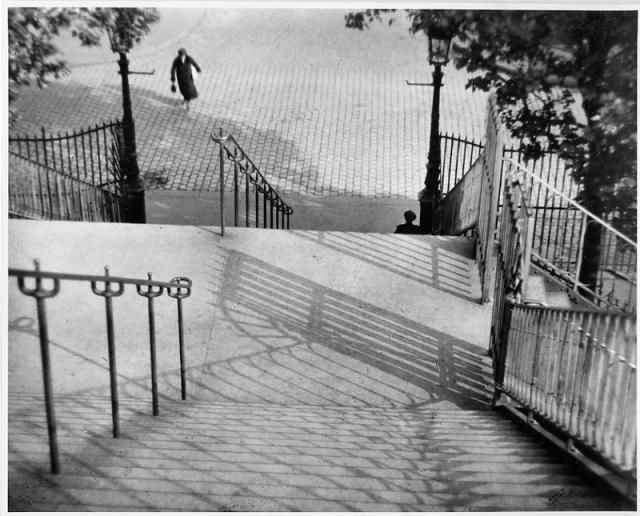 """""""Stairs of Montmartre, Paris,"""" 1925, by André Kertész (© The Estate of André Kertész / Courtesy of Stephen Bulger Gallery)"""