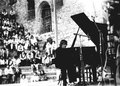 Emil Viklický performing at a jazz festival in San Sebastian, Spain in the summer of 1974