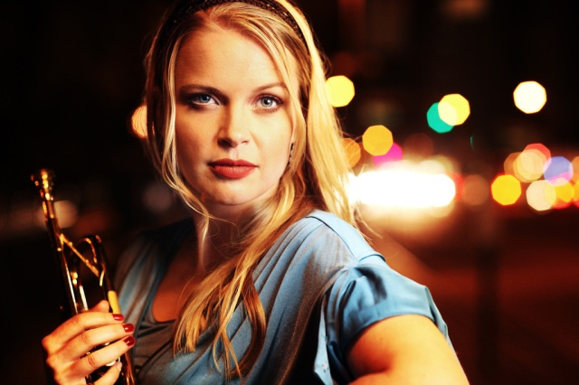 Jazz trumpet player and singer Bria Skonberg (photo by Thomas Concordia)