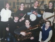 The Chilliwack Senior Jazz Combo in 2001 (Bria Skonberg is first row on the right)
