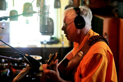 "Bruce Cockburn recording a song for the 2011 album ""Small Source of Comfort"" (photo by Daniel Keebler)"