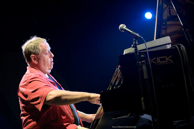 Kenny Werner performing with his quartet and with Toots Thielemans in Antwerp, Belgium in 2008 (photo by Bruno Bollaert, Flickr Creative Commons, Aug. 15, 2008)